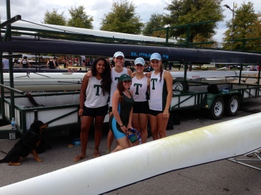 The Women's Novice 4+ after finishing first in their event!